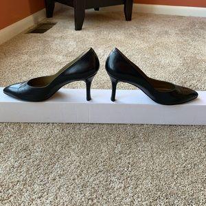 Yves Saint Laurent navy heels